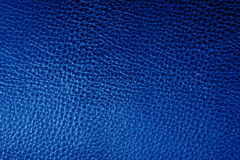 Blue leather texture background. Blue leather texture closeup. Useful as background for design-works Royalty Free Stock Photo