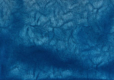 Blue leather texture Stock Photography