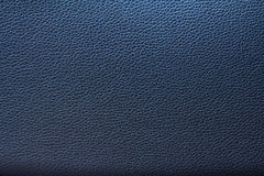 Blue leather texture background for design. Royalty Free Stock Photography