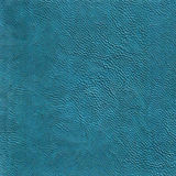 Blue leather texture background Royalty Free Stock Photography