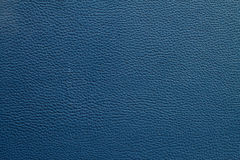 Blue leather texture background Stock Images