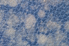 Blue leather texture background Royalty Free Stock Image