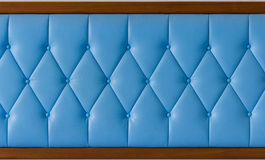 Blue leather texture, background of sofa Royalty Free Stock Photo
