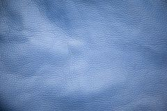 Blue bag background. Blue leather texture bag background Stock Photos