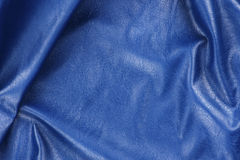 Blue leather texture closeup, useful as background Royalty Free Stock Photos