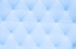 Blue leather upholstery Stock Images