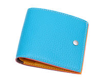 Blue leather wallet Royalty Free Stock Photos