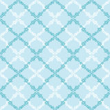 Blue leaves abstract diamond seamless pattern Royalty Free Stock Images