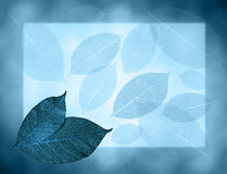 Blue leaves background. Background with blue artificial leaves royalty free illustration