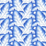 Blue leaves floral russian porcelain beautiful Royalty Free Stock Photos