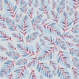 Blue leaves pattern Stock Images