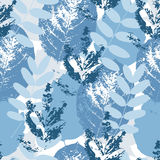 Blue leaves pattern Stock Photography