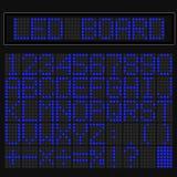 Blue LED digital font display Royalty Free Stock Images