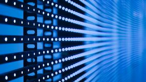 Blue led dotted lighting. Blue led dotted pattern lighting Royalty Free Stock Photo