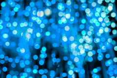 Blue LED light bokeh background Stock Image