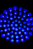 Blue led lights. In circle Stock Photo