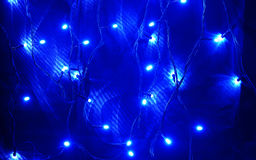 Blue led lights Stock Photos