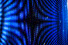 Blue led screen with white dots. Close up stock photography