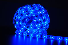 Blue led strip Royalty Free Stock Photography