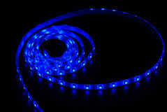 Blue led strip Royalty Free Stock Image