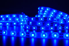 Blue Led stripe Royalty Free Stock Image
