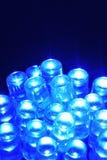 Blue LEDs Stock Photo