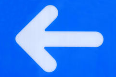 Blue left arrow Stock Photography