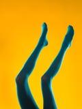 Blue legs Stock Photos