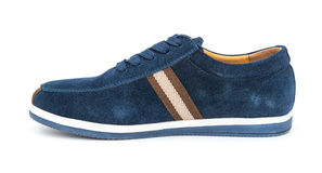 Blue leisure shoe for man Stock Images