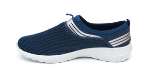 Blue leisure shoe for man Stock Photography