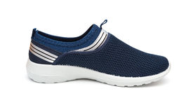 Blue leisure shoe for man on white Stock Photo