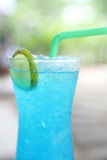 Blue lemon soda Royalty Free Stock Photos