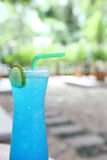 Blue lemon soda Stock Image