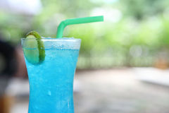 Blue lemon soda Stock Photography