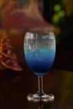 Blue lemon soda. In glass Royalty Free Stock Photo