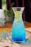 Blue lemon soda water Royalty Free Stock Images