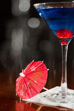 Electric blue lemonade martini Stock Image