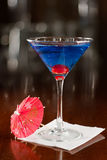 Electric blue lemonade martini Royalty Free Stock Photography