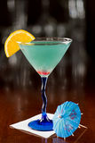 Electric blue lemonade martini Stock Photography