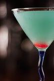 Electric blue lemonade martini Royalty Free Stock Image