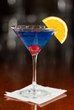 Electric blue lemonade martini Stock Photo