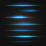 Blue lens flares Stock Photo
