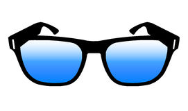 Blue Lens Glasses Stock Images