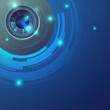 Blue lens vector abstract background Royalty Free Stock Image