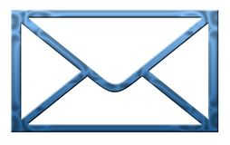 Blue letter Stock Images