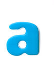 Blue letter a Stock Photo