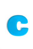 Blue letter c Stock Images