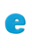 Blue letter e Stock Photo