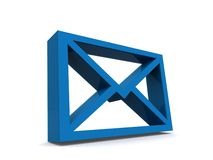 Blue letter or email icon Stock Image
