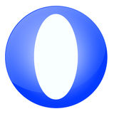 Blue Letter O Royalty Free Stock Photo